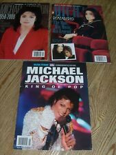 3 Michael Jackson Magazines 2009 Word Up Tribute King of Pop  Michael Remembered