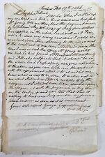 Antique Old Early American Handwritten Letters Land Deeds Sodus New York History