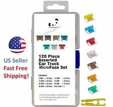 120pc MICRO Blade Fuses Assorted Assortment Auto Car Truck Motorcycle Kit Set