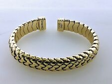 Tiffany and Co. 18k Yellow Gold Basket Weave Cuff Band Bracelet 42.5g