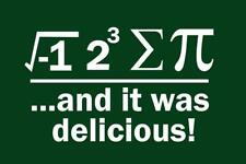 Ate Sum Pi And It Was Delicious Green White inch Poster 24x36 inch