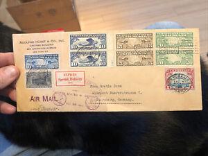 Rare Postal Postal Cover Graf Zeppelin, 1928 First Flight NY USA to Germany