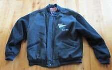 Men's Charcoal Wool Stadium Jacket Size Small Universal