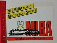 Aufkleber/Sticker: MIBA Miniaturbahnen-  Die Modellbahn-Zeitschrift (23021789)