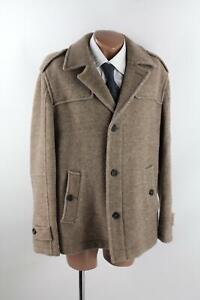 Hessnatur Jacke Gr.54/XL braun/beige 100% Schurwolle Top Zustand