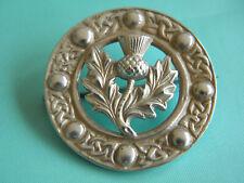 Thistle Celtic Brooch ~ Glasgow 1954 Lovely Solid Silver Robert Allison Scottish