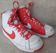 Nike Air Troupe Mid Sample Sneakers Shoes Size 7 White Team Orange