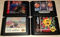 Lot 4 Sega Genesis Original Family Games Ms Pacman Monopoly Risk and Columns