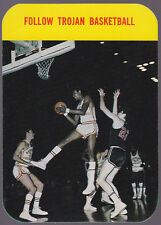1971-72 USC TROJANS MENS BASKEBALL POCKET SCHEDULE EXEX+ CONDITION FREE SHIPPING