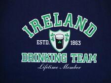 Ireland Drinking Team Beer Booze Lifetime Member Funny Irish Party T Shirt L