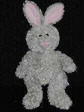 Peluche Doudou Lapin Gris Rose GIPSY Long Poil 19 / 25 cm Hase rabbit TTBE