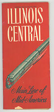 1952 Illinois Central Railroad Time Table Schedule Old Vintage Old Ephemera