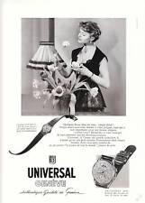 Publicité ancienne montres Universal Genève beauté issue de magazine