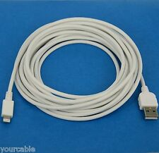 5M 16ft LONG Fast Charger Charging ONLY USB Cable WHITE 4 iPhone X 8 7 6s 6 Plus