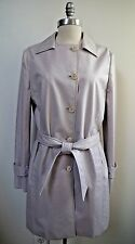 NEW LORO PIANA pale lavender Storm System trench coat women's size 46