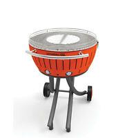 Lotusgrill XXL il barbecue senza fumo versione con ruote colore Arancione  cm.60
