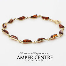 ITALIAN MADE BALTIC AMBER BRACELET IN 9CT GOLD -GBR053 RRP£385!!!