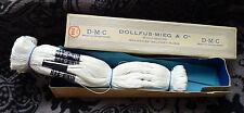 Mercerie ancienne, Echevettes de lin pour dentelle DMC n°25 blanc.