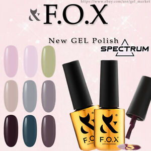 FOX SPECTRUM Gel Vinyl 7ml. Gel Polish COLOR 2021: Nude Beige Red Black White