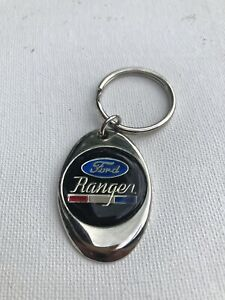 Ford Ranger Keychain Lightweight Metal Shiny Chrome Style Finish Key Chain