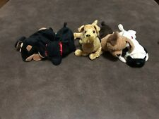 Lot Of 5 Ty Beanie Baby Dogs No Hang Tags