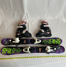 K2 76cm Junior Skis w/ Salomon 4.5 Bindings Nordica GP T2 Boots Size 9-10 COMBO