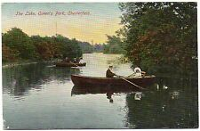 P.C Rowing Boats On The Lake Queens Park Chesterfield Derby Derbyshire P U 1911