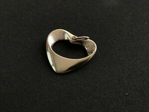 Georg Jensen Heart Pendant No. 152A Sterling Silver Vintage