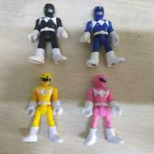 lot of 4pcs Imaginext Power Rangers Pink Yellow Blue Black  Ranger