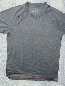 Rhone Reign MEDIUM GRAY Mens Performance Short Sleeve Shirt