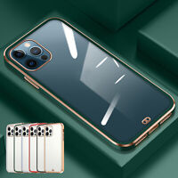 For iPhone 12 Pro Max 11 XR XS 8 7 SE2 Case Shockproof Clear Square Bumper Cover
