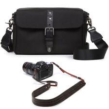 ONA Bowery Camera Messenger Bag (Black) & Presidio Camera Strap (Dark Truffle)