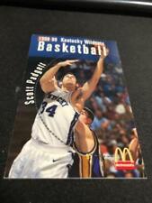 1998-99 Kentucky Wild Cats College Basketball Pocket Schedule #34 Scott Padgett