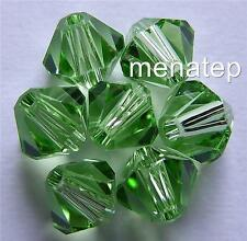 6 5mm Swarovski 5301 Bicones - Peridot(Please Read Item Description)