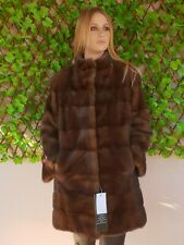 REAL MINK FUR COAT JACKET BROWN MEXA NERZMANTEL FOX SABLE CHINCHILLA 329
