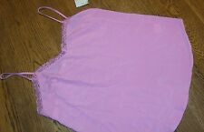 Size Small PINK LACE LINED CAMISOLE by BLACK RAINN Adjustable Straps nwt