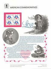 #344 25c Love-2 Doves/Heart #2440 USPS Commemorative Stamp Panel