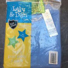 Brand new Lily & Dan Boys polo t shirt age 5-6 years school Blue uniform
