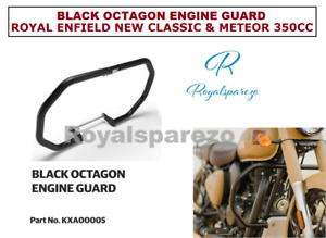 BLACK OCTAGON ENGINE GUARD ROYAL ENFIELD NEW CLASSIC & METEOR 350