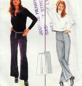 BOOTLEG TROUSERS Burda Sewing Pattern Sizes 8 10 12 14  PANTS