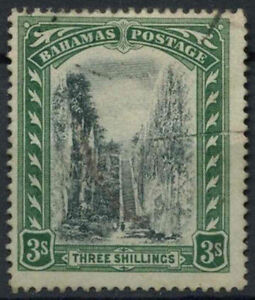 Bahamas 1911-9 SG#80, 3s Black And Green Used #A94573