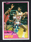 Darwin Cook #E77 signed autograph auto 1981-82 Topps Basketball Trading Card