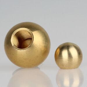 Lampen Leuchten Metall-Kugel Messing roh versch. Durchmesser mit M5 Sackgewinde