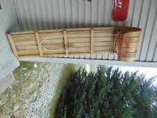"vintage wooden snow toboggan slep  58 "" nice    chalet decor  # 5269"
