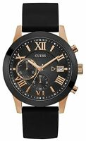 GUESS Men's Atlas Black Stainless Steel & Silicone Quartz Analog Watch W1055G3