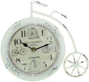 Metal Penny Farthing Mantel Clock