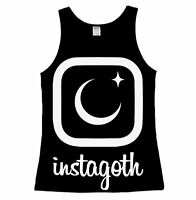 Luna Cult Instagoth Ladies Vest Top Gothic Goth Selfie Moon Star occult