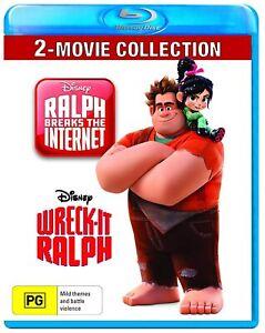 WRECK IT RALPH + RALPH BREAKS THE INTERNET (Region Free) Blu-Ray 1 & 2