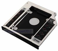 2nd Hard Drive HD HDD SSD Caddy Adapter for HP EliteBook 8470p 8470w 8570p 8570w