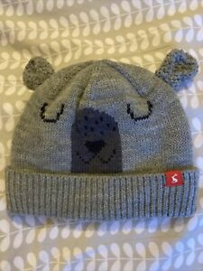 Joules Boys Grey Bear Hat Age 4-7